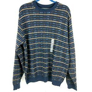 NWT Oscar De La Renta Grandpa Cotton Blend Sweater